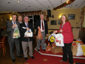 Food donation to Arnold Food Bank